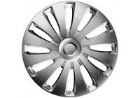 4-styck J-Tec hjulhantering Set Sepang 17-tums silver / kol-look