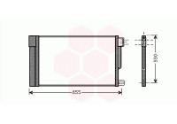 Condenser, air conditioning 17005314 Van Wezel