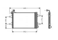 Condenser, air conditioning 76005007 International Radiators