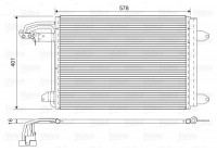 Condenser, air conditioning 817777 Valeo