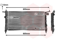Radiator, engine cooling 37002183 International Radiators