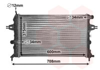 Radiator, engine cooling 37002296 International Radiators