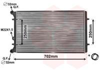 Radiator, engine cooling *** IR PLUS *** 03002155 International Radiators Plus
