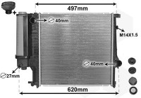 Radiator, engine cooling *** IR PLUS *** 06002124 International Radiators Plus