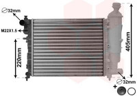 Radiator, engine cooling *** IR PLUS *** 09002115 International Radiators Plus