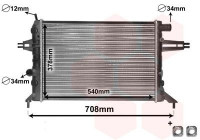 Radiator, engine cooling *** IR PLUS *** 37002272 International Radiators Plus