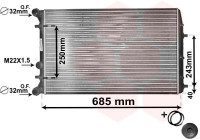 Radiator, engine cooling *** IR PLUS *** 76002010 International Radiators Plus