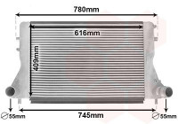 Intercooler, charger 03004386 International Radiators