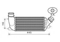 Intercooler, charger 09004270 International Radiators
