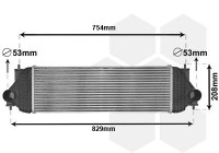 Intercooler, charger 52004134 International Radiators