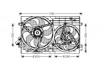 Fan, radiator 5888749 International Radiators