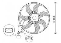 Fan, radiator 5894747 International Radiators