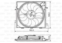 Fan, radiator 696873 Valeo