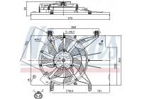 Fan, radiator 85768 Nissens