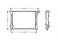 Radiator, engine cooling 06002286 International Radiators