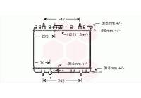 Radiator, engine cooling *** IR PLUS *** 40002300 International Radiators Plus