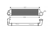 Intercooler, charger 06004282 Van Wezel