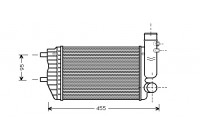 Intercooler, charger 40004183 Van Wezel