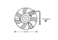 Fan, radiator 0323747 International Radiators