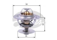 Thermostat, coolant TH11287G1 Gates