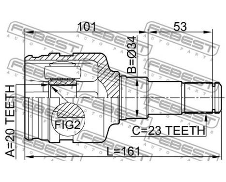 Joint Kit, drive shaft, Image 2