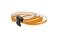 Foliatec PIN-Striping for rims orange - Width = 6mm: 4x2,15 meter