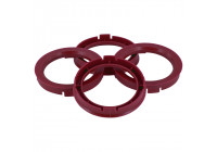 Set TPI Centering Rings - 60.1-> 56.1mm - Ruby Red