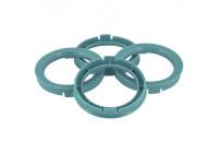 Set TPI Centering Rings - 63.3-> 60.1mm - Process Blue