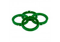 Set TPI centering rings - 66.5-> 57.1mm - green