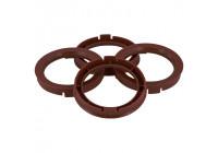 Set TPI centering rings - 70.1-> 63.4mm - Brown