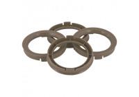 Set TPI Centering Rings - 70.1-> 66.6mm - Gray