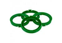 Set TPI centering rings - 72.5-> 57.1mm - green