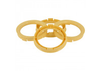 Set TPI centering rings - 73.0-> 54.1mm - yellow