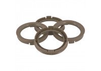Set TPI centering rings - 73.0-> 66.6mm - Gray