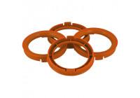 Set TPI centering rings - 73.0-> 67.1mm - Orange