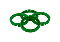 Set TPI centering rings - 74.1-> 57.1mm - green