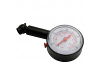 Tyre pressure gauge clock