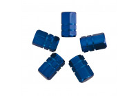 Air-valve caps 5 pcs. piston blue