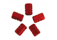 Air-valve caps 5 pcs. piston red
