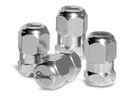 Simoni Racing Set of Air-valve caps Chrome Hexagonal - Chrome