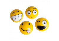 Simoni Racing Set of valve caps Emoticons - Yellow - 4 pieces