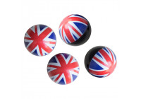 Simoni Racing Set of valve caps UK Flag - White / Blue / Red - 4 pcs