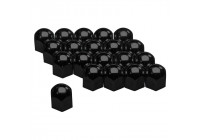 Set of universal Wheel Nut Covers - Black Steel - 19mm - set of 20 pieces