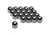 Set of universal Wheel Nut Covers - Chrome Steel - 17mm - set of 20 pieces