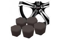 Simoni Racing Wheel Nut Caps Soft Sil - 17mm - Black - Set of 20 pieces