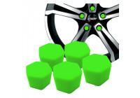 Simoni Racing Wheel Nut Caps Soft Sil - 19mm - Green - Set of 20 pieces