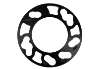 TPI Universal spacer set 3mm - 4/5 holes - Groove size 98-> 114.3mm - black (6mm / axle)