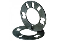 Universal 4/5-hole wheel spacers 3mm
