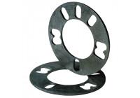 Universal 4/5-hole wheel spacers / Spacerset 5mm
