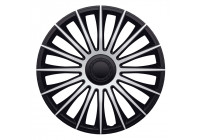 4-Piece J-Tec Wheel Cap Set Austin 17-inch silver / black